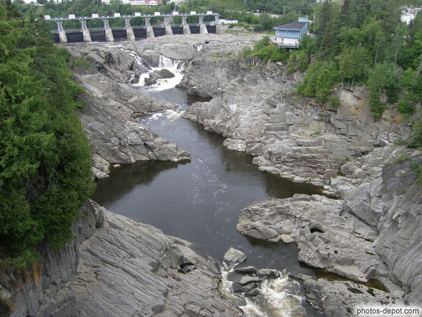 photo de Barrage et rivière de Grand falls