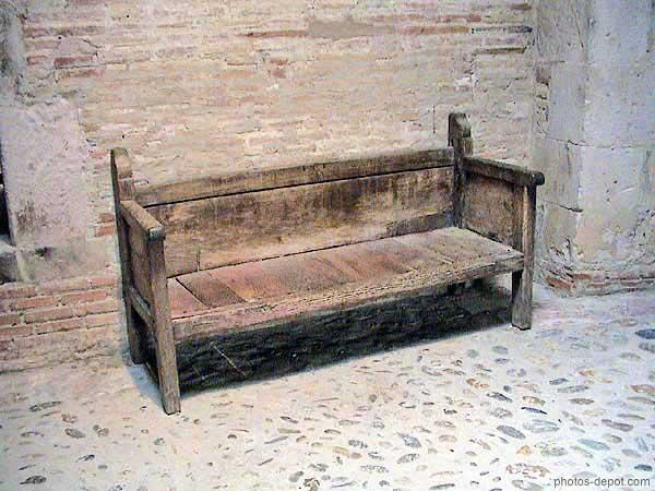 vieux banc de bois. Black Bedroom Furniture Sets. Home Design Ideas